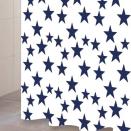 Duschdraperi Star marin/vit Gripsholm