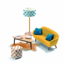 Djeco - Dollhouse - The orange living room