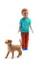 Djeco - Dollhouse - Xavier and his dog