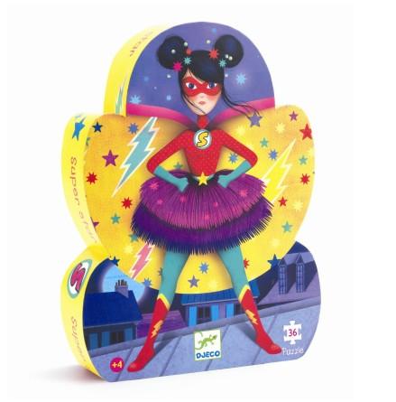 Djeco - Siluettepussel Super Star