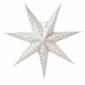Adventsstjärna Ludwig slim vit/silver 80
