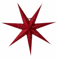 Adventsstjärna Ludwig slim röd 80