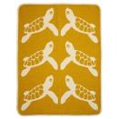 Babyfilt Klippan Turtle yellow