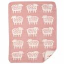 Babyfilt Klippan Sheep pink