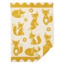 Babyfilt Klippan Fox ekologisk lammull Saffron