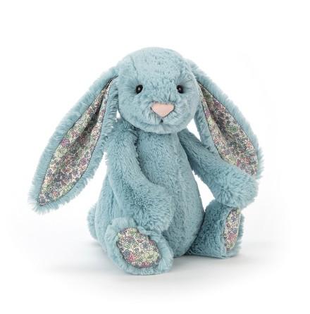 JellyCat Bashful Blossom Aqua Bunny