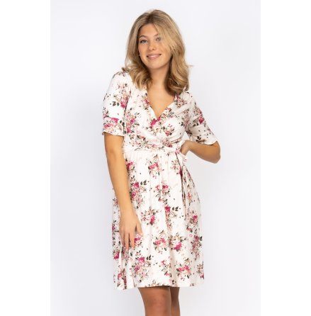 Rosie Dress Creme/Rose/Amber