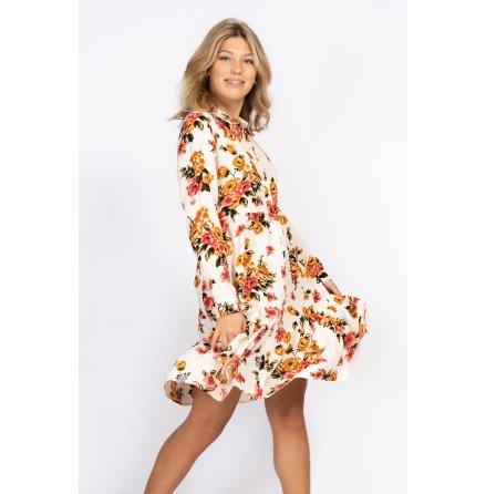 Pauline Dress Creme/Rose/Amber