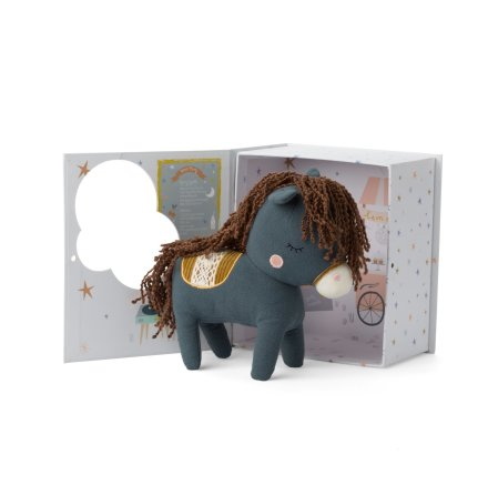 Picca Loulou - Horse in giftbox, blue